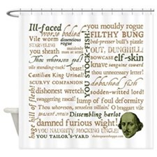 Shakespeare Insults Shower Curtain