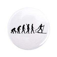 """Evolution Cross country skiing 3.5"""" Button"""
