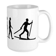 Evolution Cross country skiing Mug