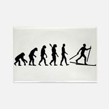 Evolution Cross country skiing Rectangle Magnet