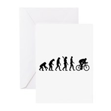 Evolution cycling bike Greeting Cards (Pk of 10)