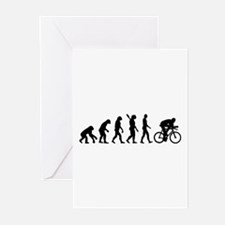Evolution cycling bike Greeting Cards (Pk of 20)