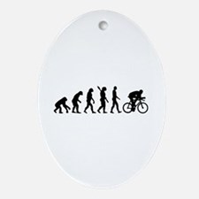 Evolution cycling bike Ornament (Oval)