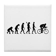 Evolution cycling bike Tile Coaster