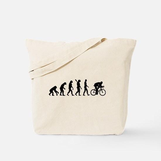 Evolution cycling bike Tote Bag