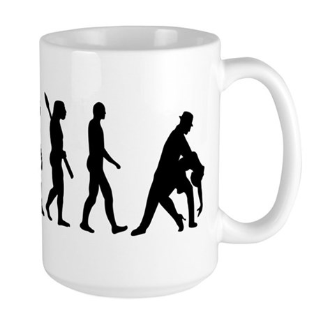 Evolution dancing tango Large Mug