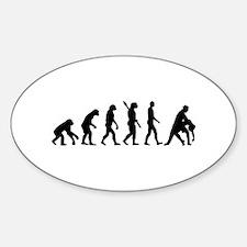 Evolution dancing tango Sticker (Oval)