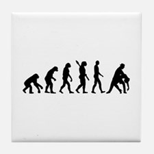 Evolution dancing tango Tile Coaster