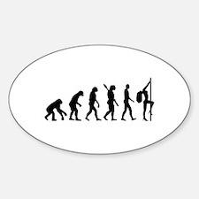 Evolution sexy woman Sticker (Oval)
