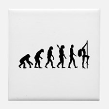 Evolution sexy woman Tile Coaster