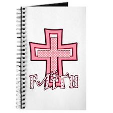 Cute Pink Polka Dot Faith Cross Journal