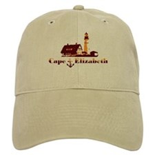 Baseball Cape Elizabeth ME - Lighthouse Design. Baseball Cap