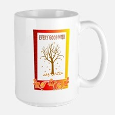 ALl the leaves are falling Large Mug