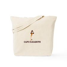 Cape Elizabeth ME - Lighthouse Design. Tote Bag