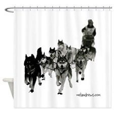 Cute Siberian husky Shower Curtain