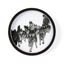 Cute Dogsled Wall Clock