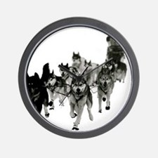 Cute Siberian husky Wall Clock
