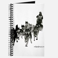 Cute Siberian husky Journal