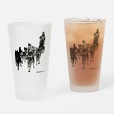 Cute Sled dogs Drinking Glass