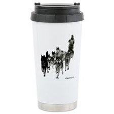 Cute Dogsled Travel Mug