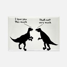 T Rex I Love You This Much Rectangle Magnet