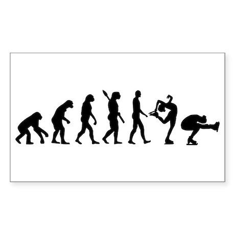 Evolution Figure skating Sticker (Rectangle)