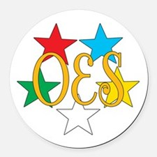 OES Stars big.png Round Car Magnet