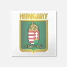 "Hungarian Gold.png Square Sticker 3"" x 3"""
