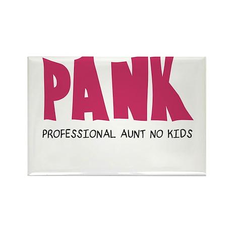 PANK Professional Aunt No Kids Rectangle Magnet