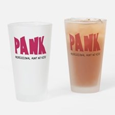 PANK Professional Aunt No Kids Drinking Glass