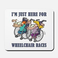 WHEELCHAIR RACES Mousepad