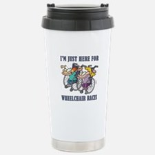 WHEELCHAIR RACES Travel Mug