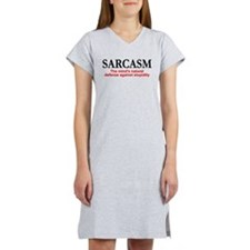 Sarcasm the mind's natural defense Women's Nightsh