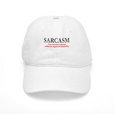Sarcasm the mind's natural defense Baseball Cap