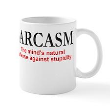 Sarcasm the mind's natural defense Mug