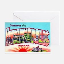 Indianapolis Indiana Greetings Greeting Card