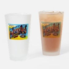 Indianapolis Indiana Greetings Drinking Glass