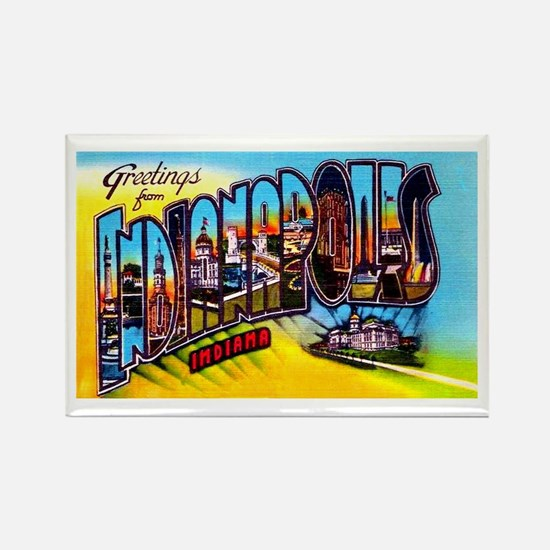 Indianapolis Indiana Greetings Rectangle Magnet