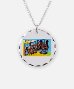 Indianapolis Indiana Greetings Necklace