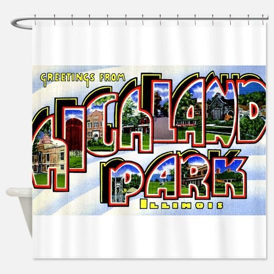 Highland Park Illinois Greetings Shower Curtain
