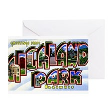 Highland Park Illinois Greetings Greeting Card
