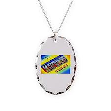 Maywood Illinois Greetings Necklace