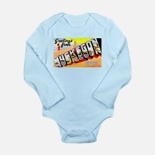Muskegon Michigan Greetings Long Sleeve Infant Bod