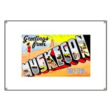 Muskegon Michigan Greetings Banner