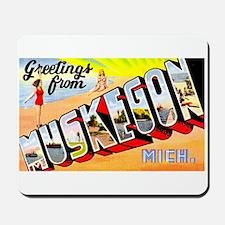 Muskegon Michigan Greetings Mousepad