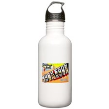 Muskegon Michigan Greetings Water Bottle