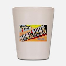 Muskegon Michigan Greetings Shot Glass