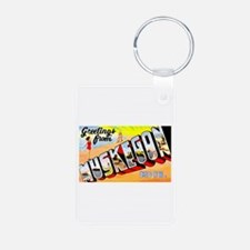 Muskegon Michigan Greetings Keychains