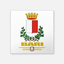 "Bari (Flag 10).png Square Sticker 3"" x 3"""