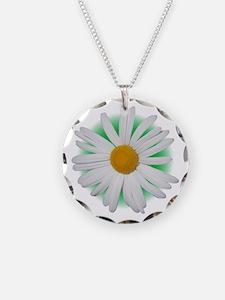 Daisy Necklace Circle Charm